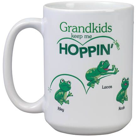 Personalized Grandkids Keep Me Hoppin' Mug-369378