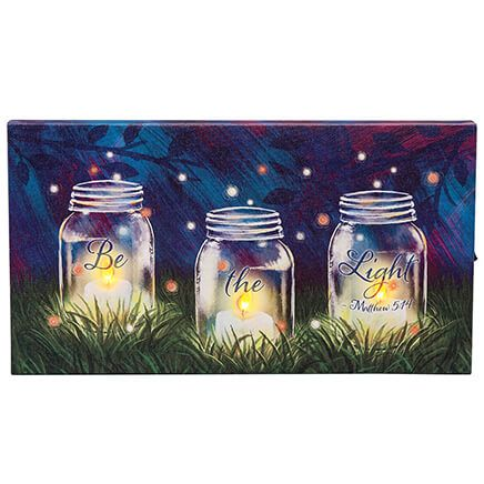 Be the Light Lighted Canvas by Holiday Peak™-369423