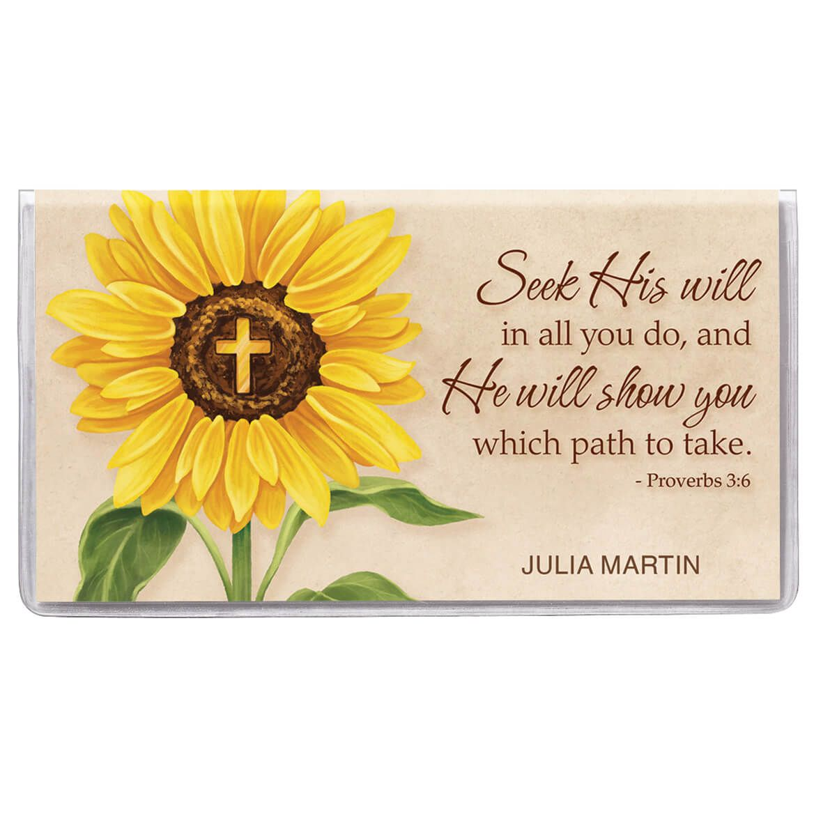 Personalized 2 Year Planner Sunflower Cross-369593