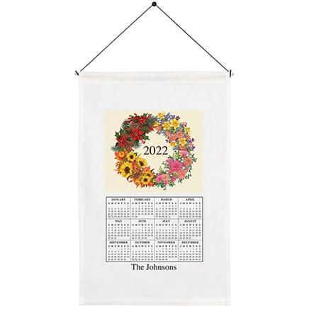 Personalized Four Seasons Wreath Calendar Towel-369595