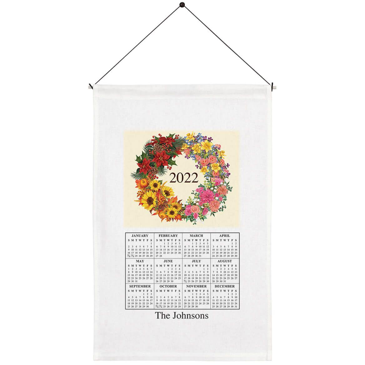 Personalized Four Seasons Wreath Calendar Towel-369595