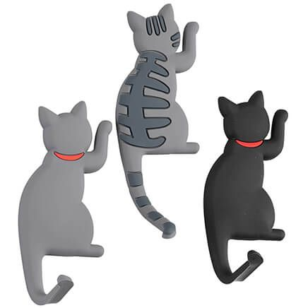 Cat Hook Refrigerator Magnets, Set of 3-369664