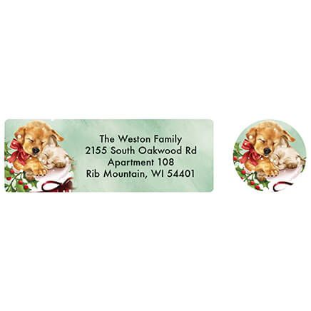 Personalized Cozy Greetings Labels and Seals 20-370162