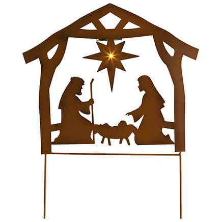 Metal Solar Nativity Scene Yard Stake by Fox River Creations™-370324