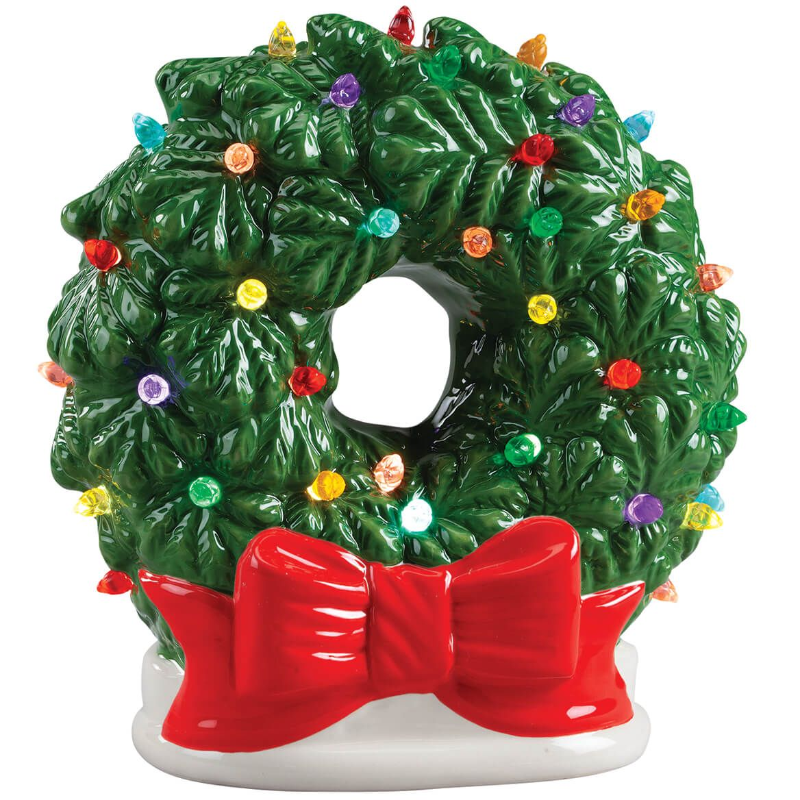Vintage Ceramic Wreath Light-370327
