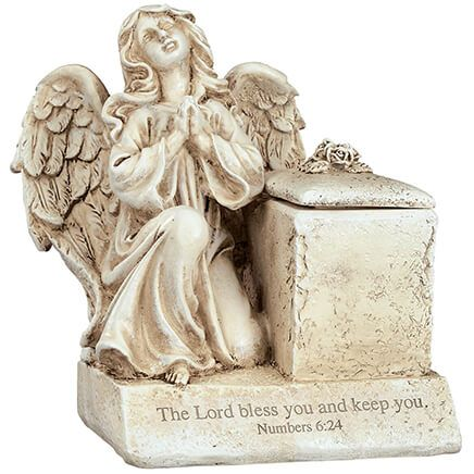 Personalized Resin Angel Prayer Box by Fox River™ Creations-370349