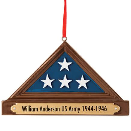 Personalized Flag Display Case Ornament-370423