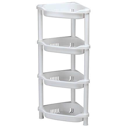 White 4-Tier Corner Shelf-370564