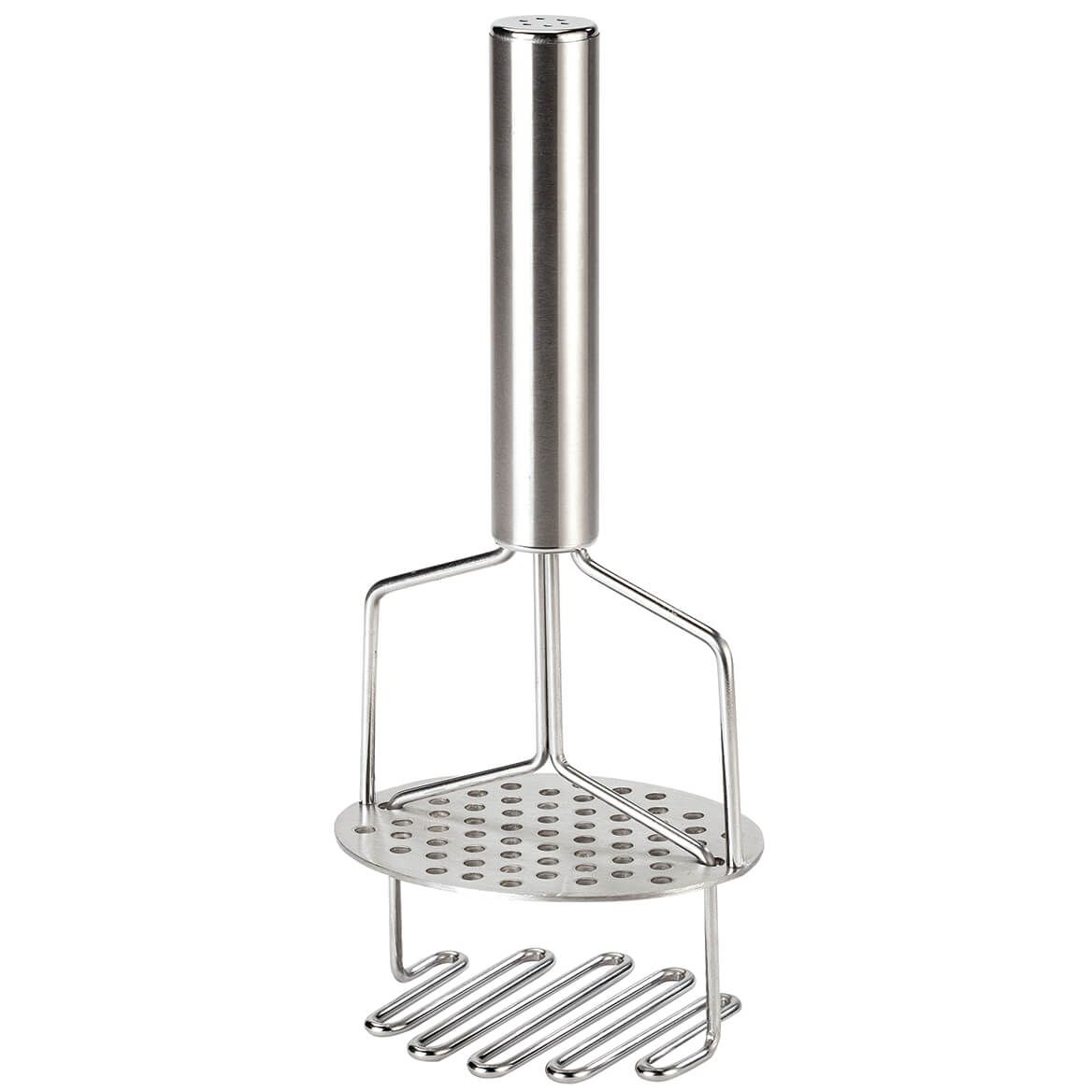 No Lumps Stainless Steel Spring Loaded Double Masher by Home-370754