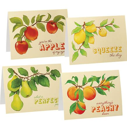 Cute Fruit Note Cards, Set of 20-370824