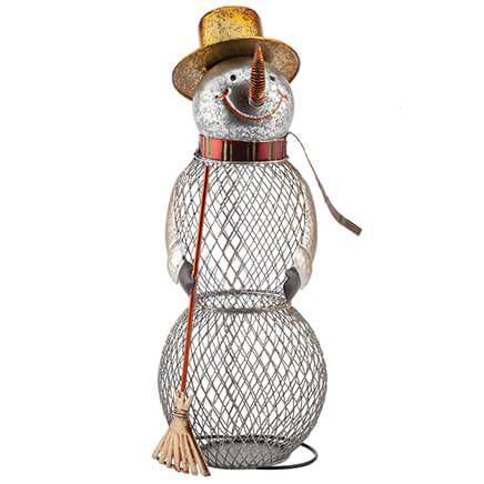 Metal Snowman Cork Holder-370885