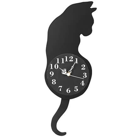 Cat Pendulum Wall Clock-370935