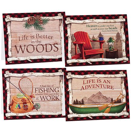 Northwoods Note Cards, Set of 20-370975
