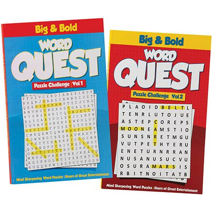 Big & Bold Word Quest Puzzles, Set of 2-371053