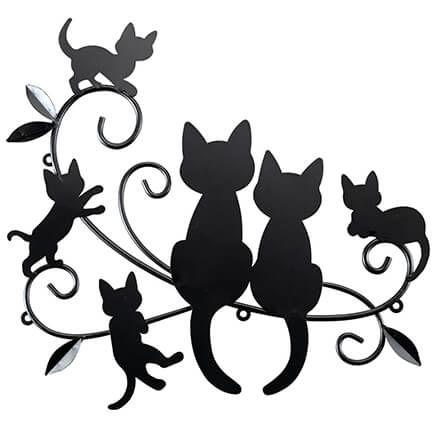 Cats & Kittens Black Metal Wall Decor-371202