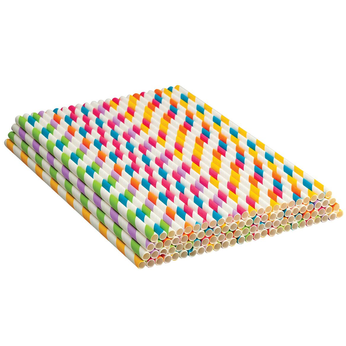 Colorful Paper Straws Set of 100-371281