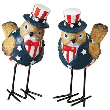 Patriotic Bird Figurines by Holiday Peak™, Set of 2-371456