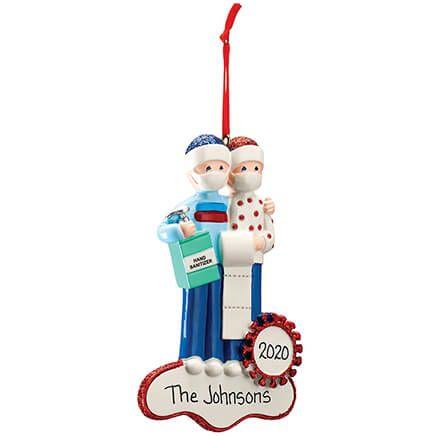 Personalized Quarantine Couple Ornament-371643