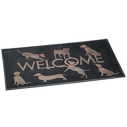 Welcome Dogs Rubber Doormat-371652