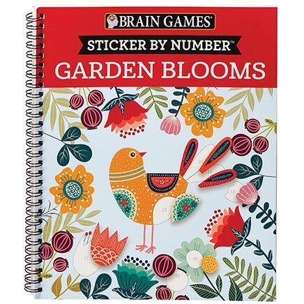Brain Games® Sticker by Number Garden Blooms-371700