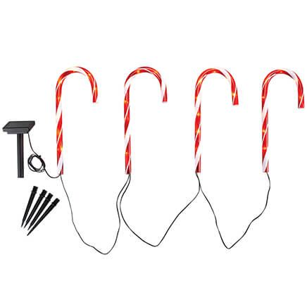 Solar Candy Cane Lights by Fox River™ Creations, Set of 4-371951