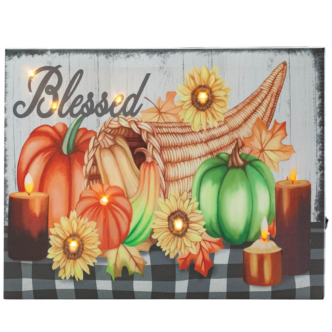 Blessed Harvest Lighted Canvas by Holiday Peak™-371972