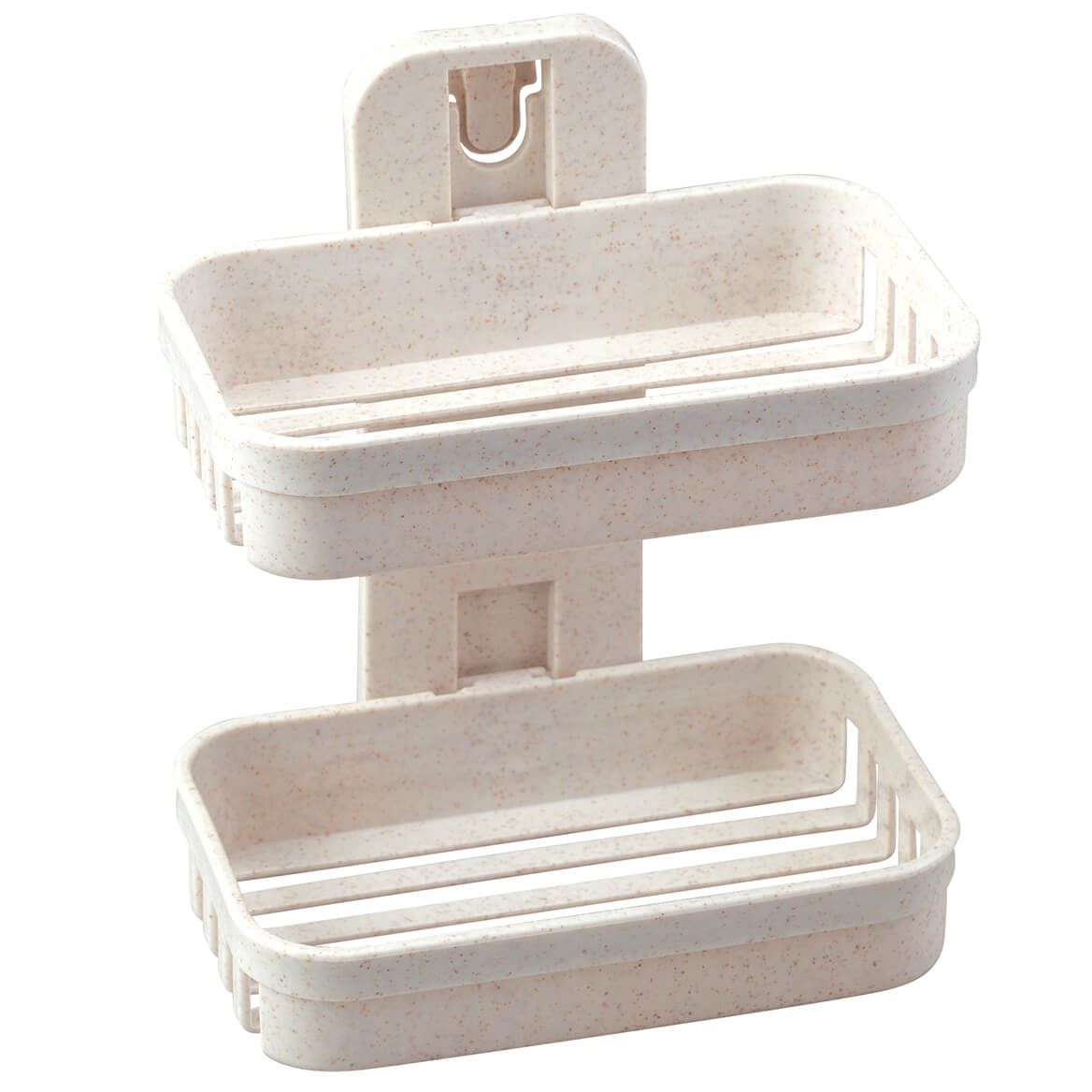 Wall Mounted Wheat Straw 2-Tier Soap Dishes-371989