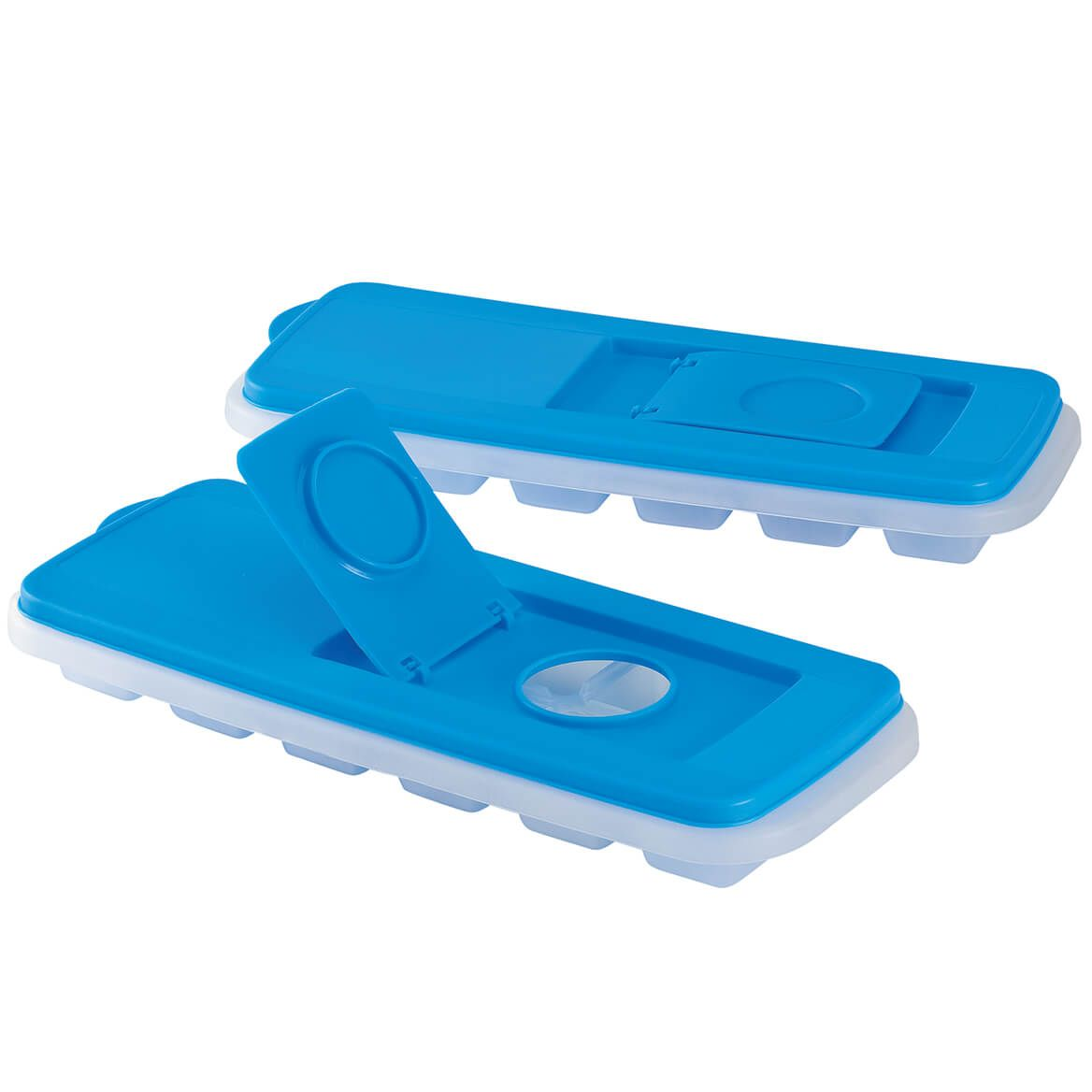 Easy to Fill Covered Ice Cube Trays, Set of 2-372017