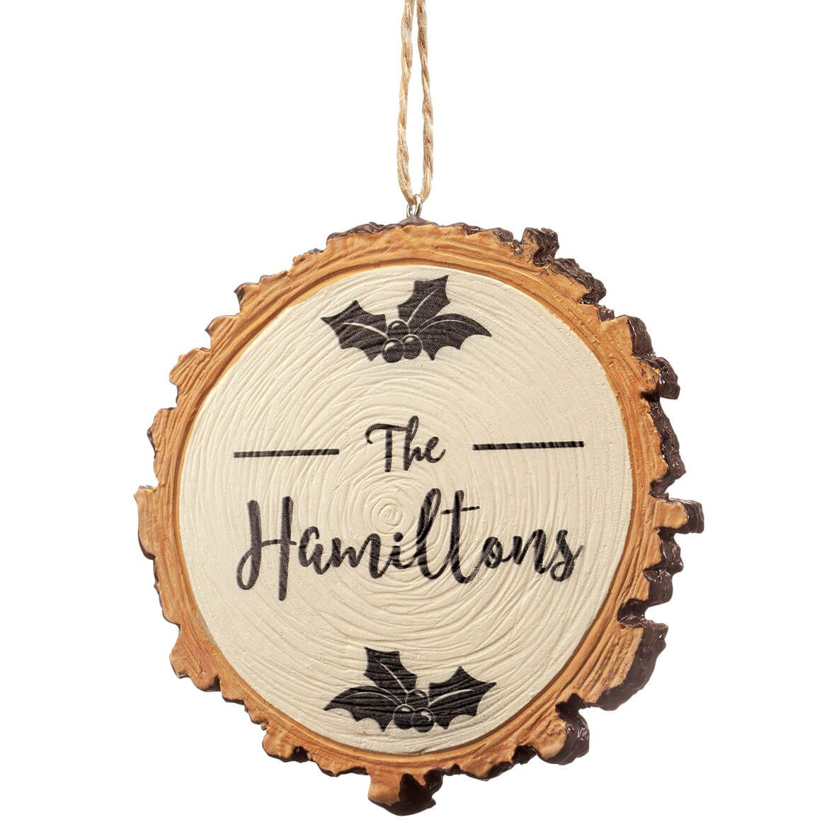 Personalized Christmas Resin Wood Slice Ornament-372088