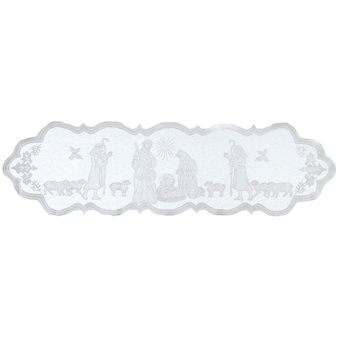 Silent Night Lace Table Runner-372363