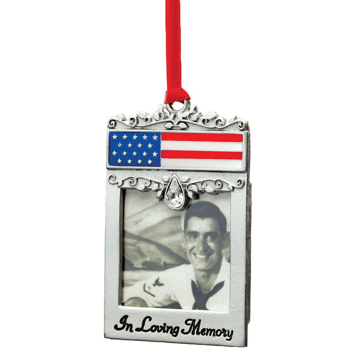 Patriotic Pewter Memorial Frame Ornament-372369