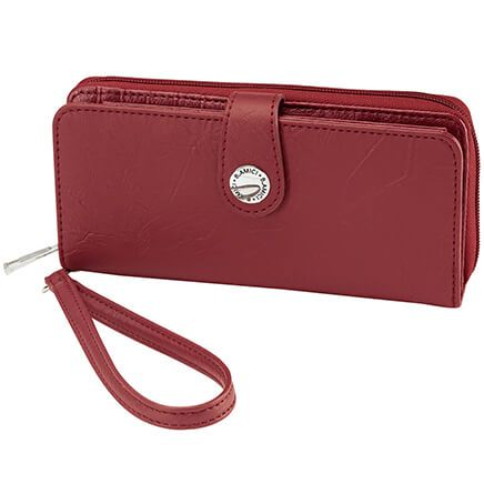 B. Amici™ Nancy RFID Leather Wallet with Wristlet-372510