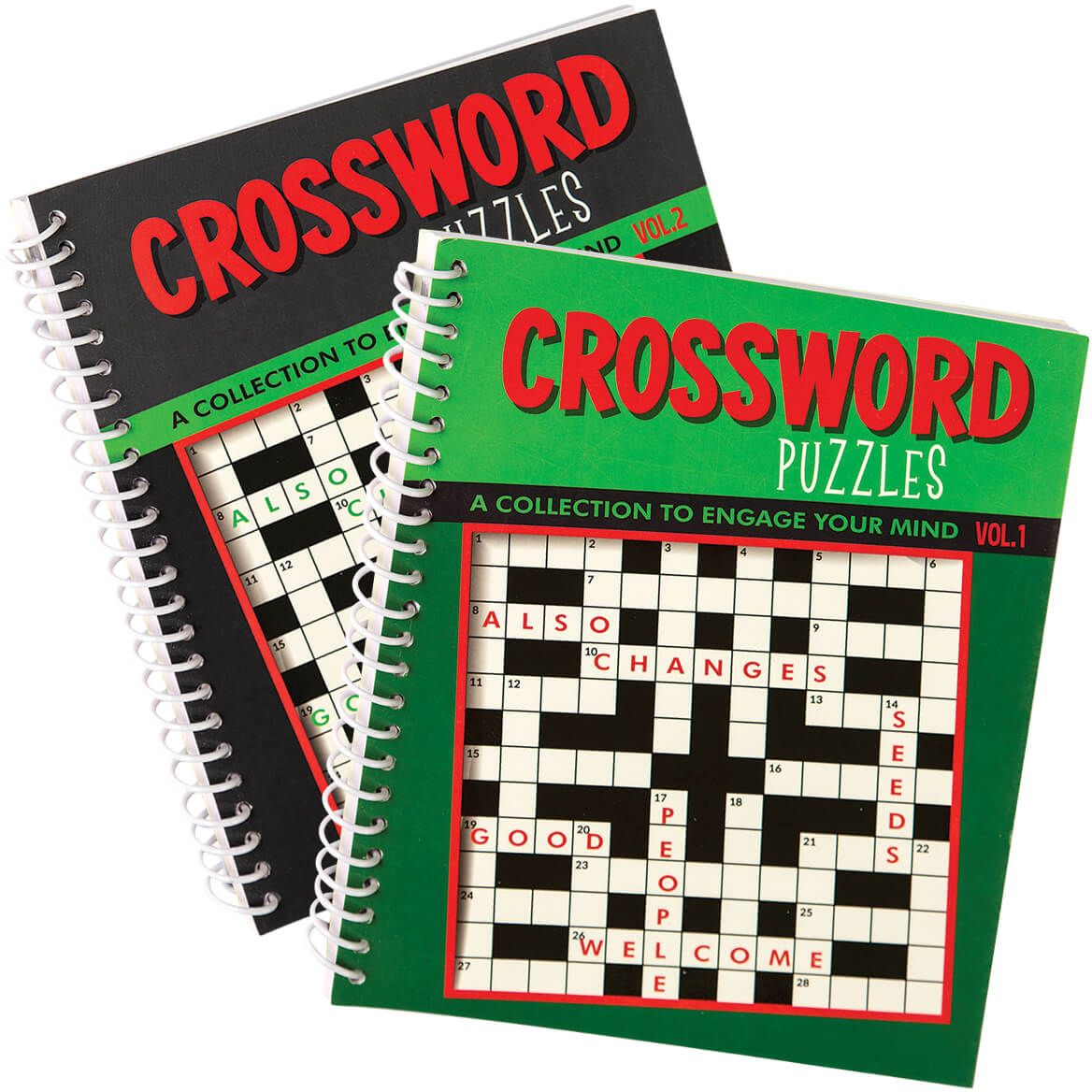 Crossword Puzzle Spiral Books, Vol. 1 and 2, Set of 2-372574
