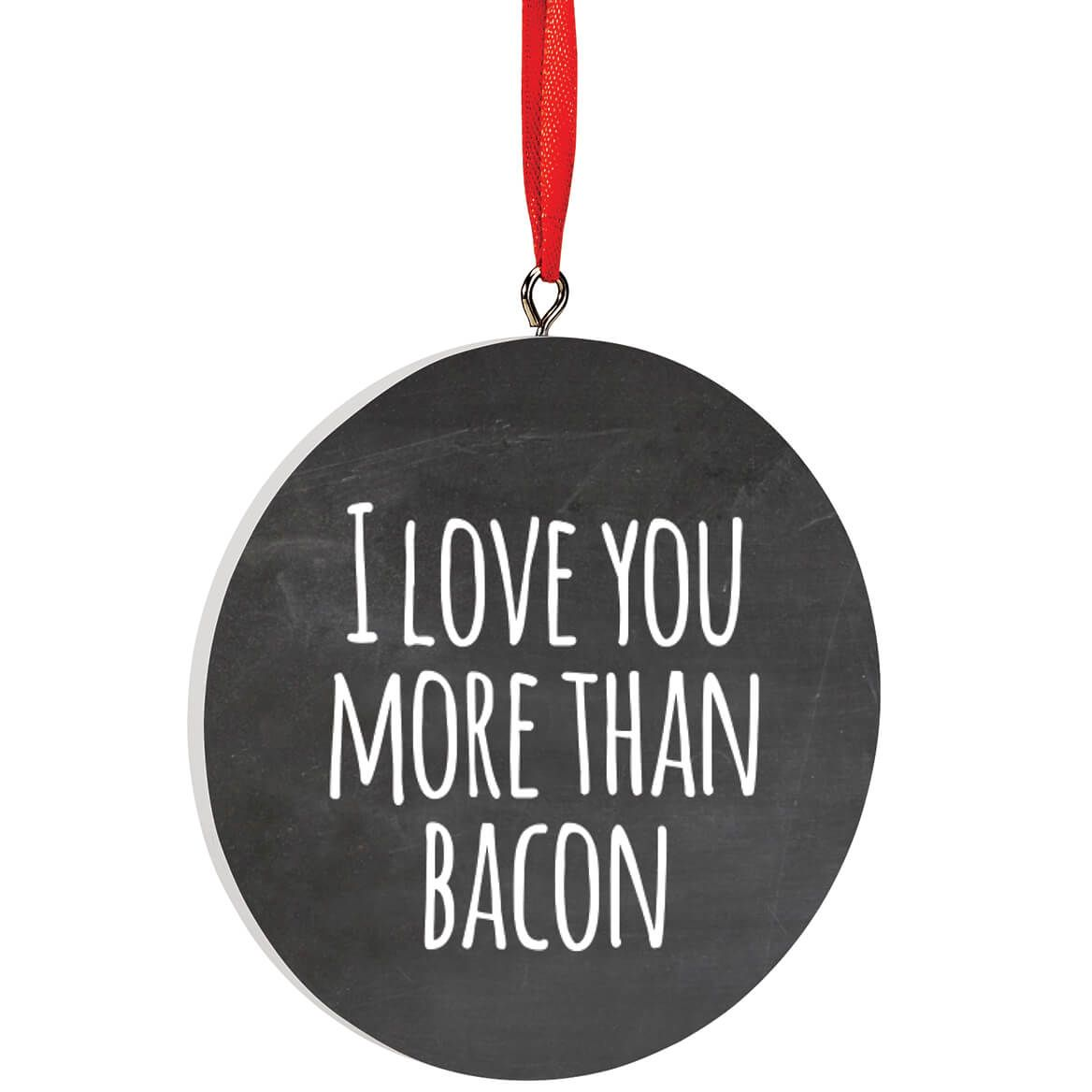 Personalized I Love You More Than Bacon Ornament-372731
